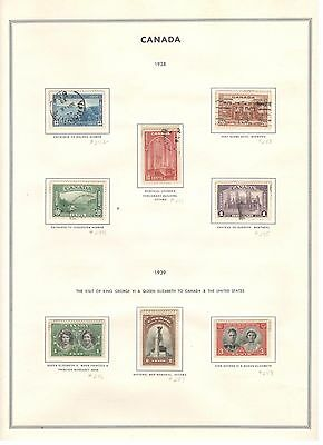Canada Stamps MNH Used 1938-39 Scott-241-48 Check our newly listed Canada Stamps