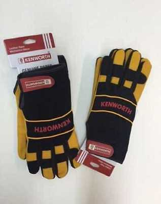 New Design Genuine Kenworth Leather Palm Gloves