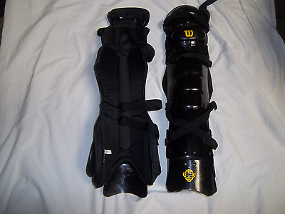 Wilson A3409Wv West Vest  Deluxe Umpires Leg  Guards 18-19""