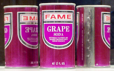 Fame GRAPE Soda Pop Can Dayton 45429 Ohio NO UPC Label SC79 A/F*