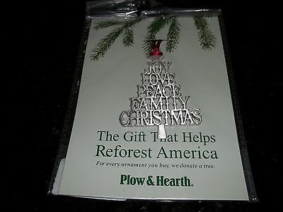 Plow & Hearth Pewter Christmas Ornament Tree-