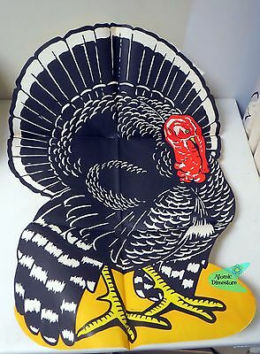 Vintage 1930s AMERICAN TOYS #6815 HUGE TURKEY PAPER CUTOUT DECORATION UNUSED