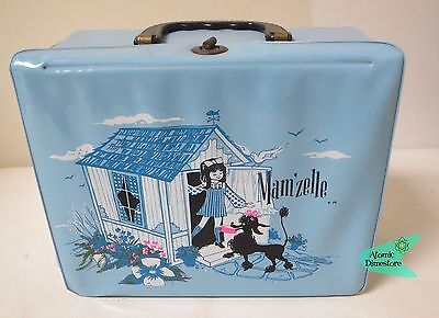 Vintage 1960s MAM'ZELLE Girl with Poodle Vinyl Lunch box & Thermos NEAR MINT