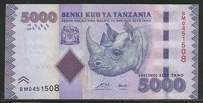 Tanzania P-New 5000 Shillings ND Unc