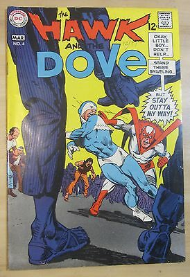 The Hawk and the Dove #4 (Feb-Mar 1969, DC) VF 8.0..Gil Kane c/a..Free Shipping!
