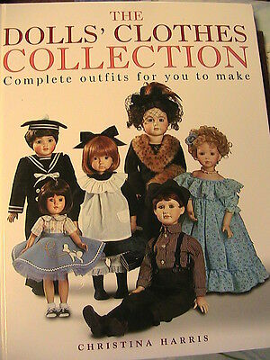DOLLS' CLOTHES COLLECTION~2003~CHRISTINA HARRIS 137 page book of patterns
