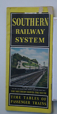 Southern Railway System SOU Pass.Train Timetable  May 1 1946