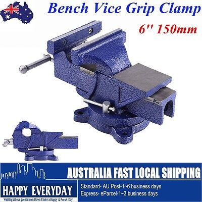 6 Inch Heavy Duty Metalworking Workshop Bench Vice, Grip Clamp Capacity 150mm