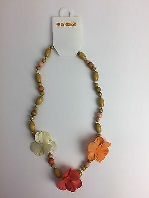 NWT Gymboree Beach Shack Tropical Hula Wood Bead Necklace 2 3 4 5 6 7 8 9 10 12