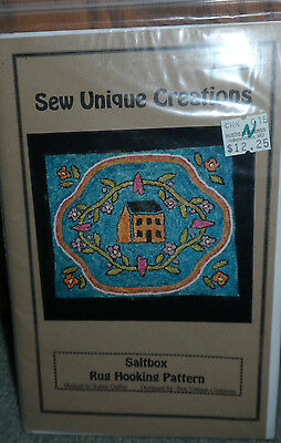 Saltbox   - Rug Hooking Pattern by Sew Unique Creations  #SEU015