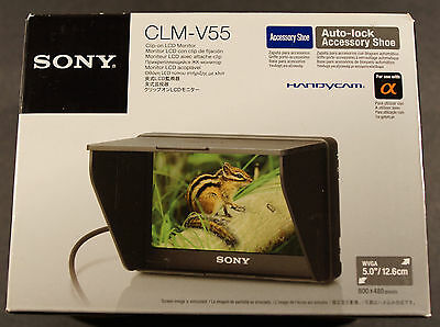Sony CLM-V55 5-Inch Portable LCD Monitor for DSLR Cameras, NEW !!!