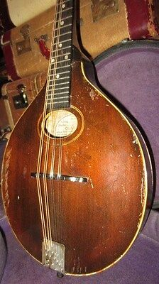 Vintage Circa 1919 Gibson Style A Mandolin Brown Comes With Original Hard Case