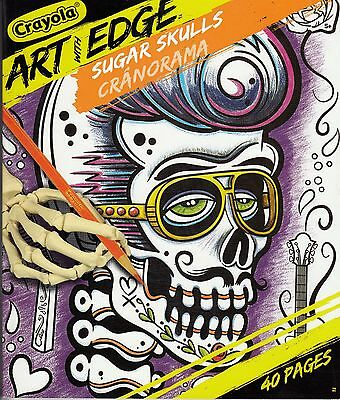 Crayola Art With Edge -  Coloring Book - Sugar Skulls  - 40 Pages 8 X 10