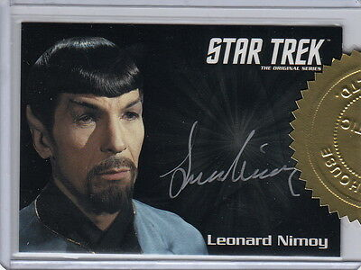 Star Trek Tos 50Th Anniversary 6 Case Incentive Auto Card Leonard Nimoy Spock