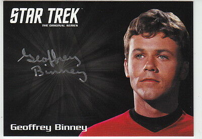 Star Trek Tos 50Th Anniversary Silver Auto Card Geoffrey Binney As Compton