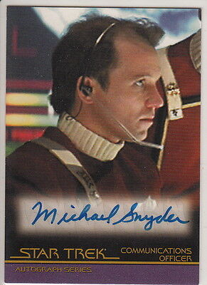 Complete Star Trek Movies Auto Card A36 Michael Snyder