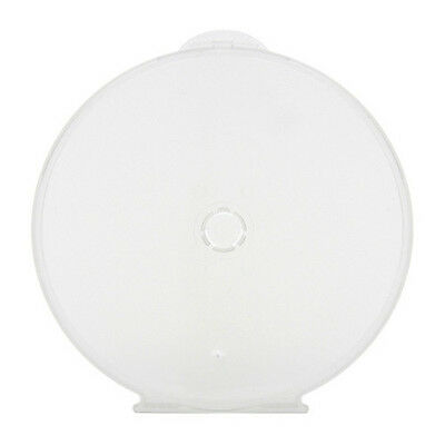 10 5mm Clear CD DVD R Disc Clam C Shell PP Poly Plastic Storage Case with Lock