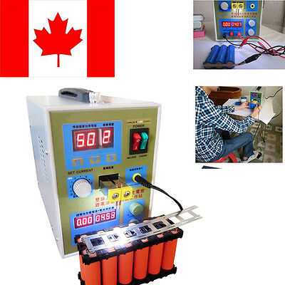 LED Dual Pulse Spot Welder 18650 Battery Charger 800A 0.1-0.2 mm CA FAST SHIP