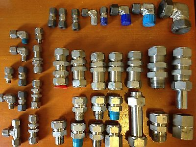 Swagelok and Parker Stainless Steel Compression fittings