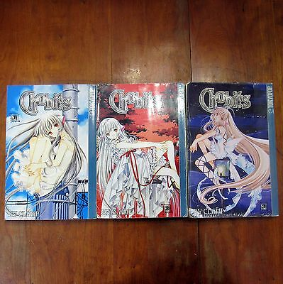 Chobits by Clamp Lot of 3 Books Volume 1 2 3 Tokyopop Older Teen Rating