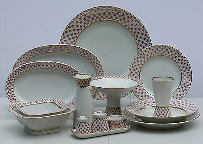 Dinner set for 6 people/33 pcs NET BLUES, Lomonosov Imperial Porcelain, Russia