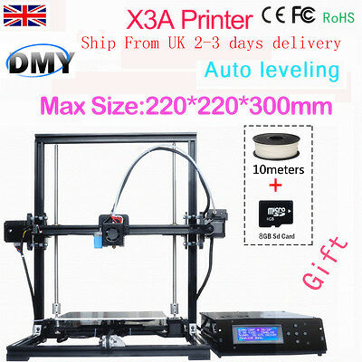 DIY 3D Printer X3A Large Print Size Auto Leveling Upgraded Aluminium Structure