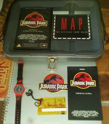 Jurassic Park Collector's DNA Pack VHS Brochure Security Pass Hologram Watch Map