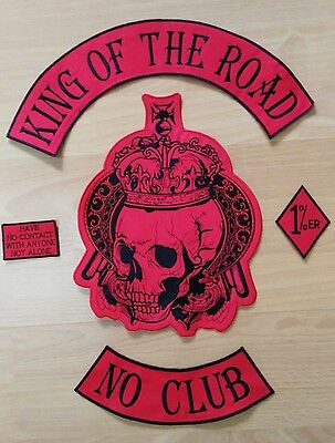 14'' inches Huge large Embroidery Patches KING OF THE ROAD 48cm*36cm BEP19