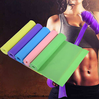 1.5m Elastic Yoga Stretch Resistance Belt Exercise Fitness Band Training Strap