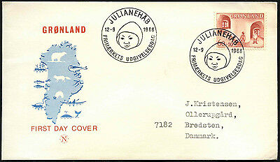 Greenland 1968 Child Welfare FDC First Day Cover #C41472