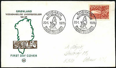 Greenland 1978 Scientific Researchers FDC First Day Cover #C41451