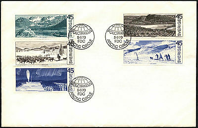 Sweden 1970 Around The Arctic Circle FDC First Day Cover#C41402