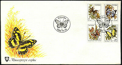 Venda 1980 Butterflies FDC First Day Cover #C41533