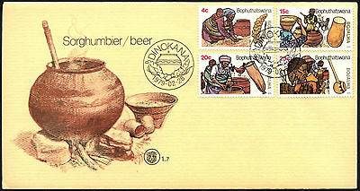 Bophuthatswana 1979 Sorghum Beer Making FDC First Day Cover #C41519
