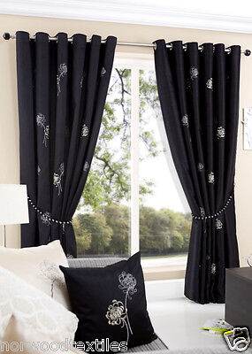 Casa Eyelet Top Ring Top Heading Curtains Voile Net Fully Lined Ready Made