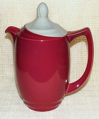 Vintage Branksome China TWO TONE SMALL COFFEE POT Hot Water Jug Raspberry & Grey