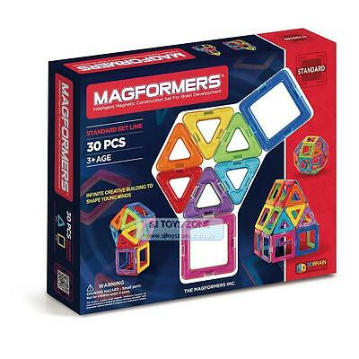 Magformers 30 Pieces Educational Shapes 3D Brain Development Magnetic Constructi