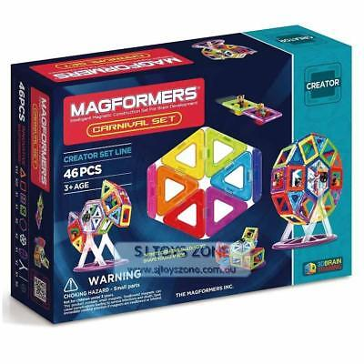 Magformers Carnival Fairy Wheel 46 Pieces Educational Shapes 3D Brain Developmen
