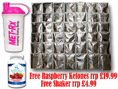 42 x VLCD LA SLIM DIET SHAKES, WEIGHT LOSS, LOW CARB, FREE RASPBERRY KETONES