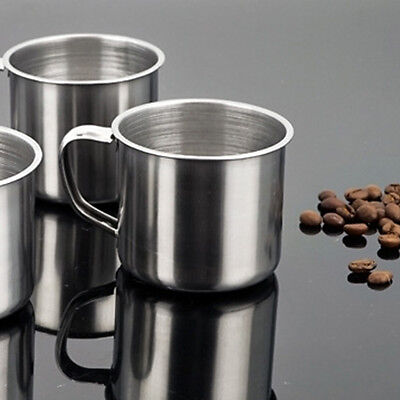 Stainless Steel Outdoor Camping Travel Coffee Home Cup Mug Coffee Tea Cup Silver