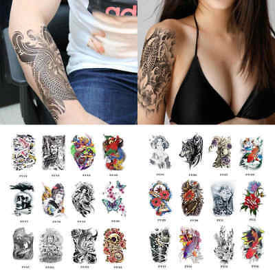 Waterproof Tatouage Tattoo Temporaire Bras Corps Autocollant Amovible Stickers