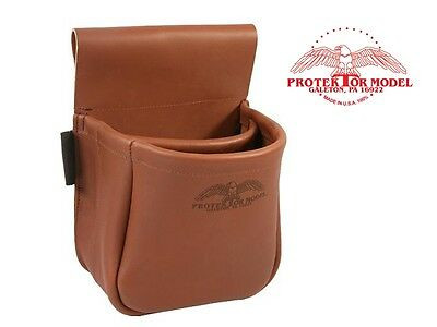 Protektor Model - #23A Leather Shotgun Clay Pigeon Shooting Bag - Made In Usa