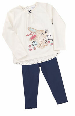 Childrens Girls Outfit Leggings Long Sleeve Top Bunny Woodland Applique Cute