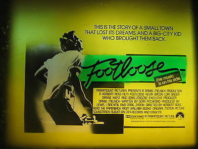 FOOTLOOSE 1984 Orig Australian cinema movie projector glass slide Kevin Bacon