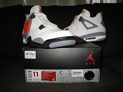 Nike Air Jordan IV 4 White Cement Size 11