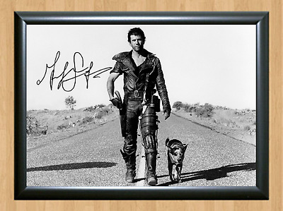 Mel Gibson Mad Max Road Warrior Signed Autographed A4 Photo Poster Memorabilia