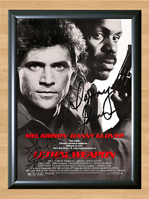 Mel Gibson Danny Glover Lethal Weapon Signed Autographed A4 Photo Memorabilia