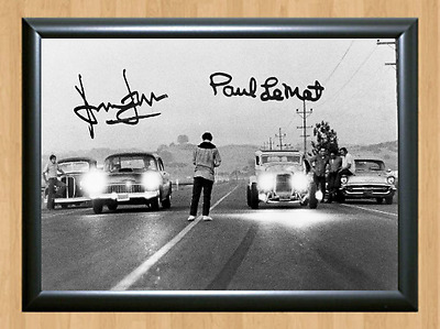 American Graffiti Drag Race Signed Autographed A4 Photo Poster Movie Memorabilia