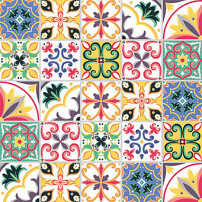Traditional Tile Stickers Vintage Transfers for Kitchen Bathroom & Furniture T6