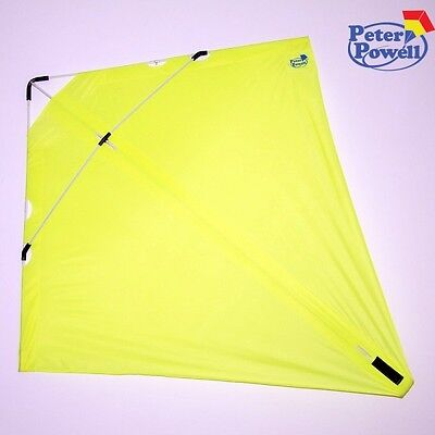 PETER POWELL Dual Line Stunt Kite MKIII YELLOW   - Adults Kids Outdoor Sport Toy